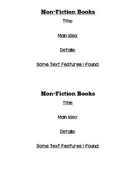 Nonfiction Reading Book Notes