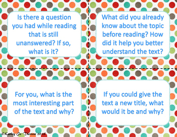 Nonfiction Reading Cards