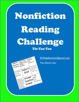 Nonfiction Reading Challenge - Tic Tac Toe