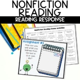 Nonfiction Reading Choice Calendar Menu Worksheets