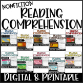 Nonfiction Reading Comprehension Seasonal BUNDLE with Digital