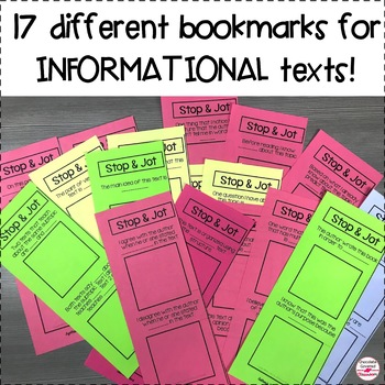 Nonfiction Reading Comprehension Bookmarks