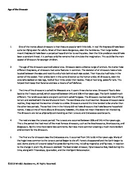 Nonfiction Reading Comprehension Passage With Questions- 800L