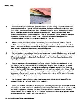 Nonfiction Reading Comprehension Passage With Questions- 850L
