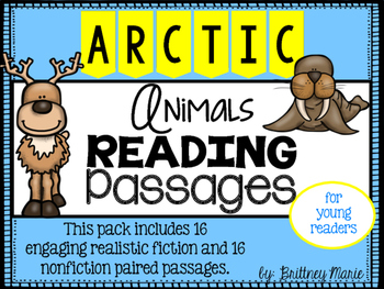 Arctic Animals Nonfiction Reading Comprehension Passages
