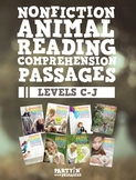 Nonfiction Reading Comprehension Passages Bundle: Guided Reading Levels C-J