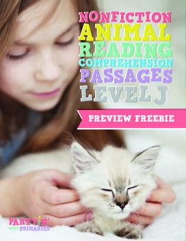 Nonfiction Reading Comprehension Passages: GR Level J Preview Freebie