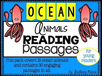 Ocean Animals Nonfiction Reading Comprehension Passages