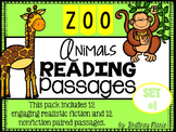 Zoo Animals Nonfiction Reading Comprehension Passages Set 1
