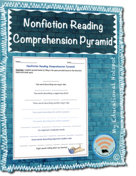 Nonfiction Reading Comprehension Pyramid Template