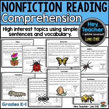 Nonfiction Reading Comprehension, Short Passages, Diagrams, & Writing  Responses