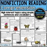 Nonfiction Reading Comprehension, Short Passages, Diagrams