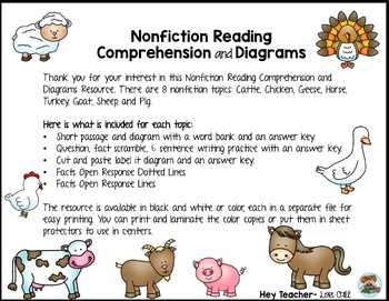 Nonfiction Reading and Writing: Farm Animals