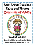 Nonfiction Reading Facts and Figures Research Project for Countries of Africa