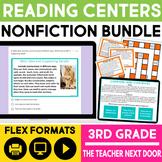 Nonfiction Reading Games Bundle   Nonfiction Reading Centers for 3rd Grade