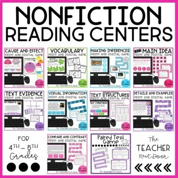 Nonfiction Reading Games Bundle  for 4th and 5th Grades
