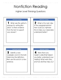 Nonfiction Reading Higher Level Thinking Questions