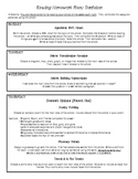 Nonfiction Reading Homework Menus