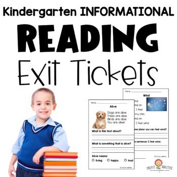 Informational Reading Exit Tickets Kindergarten