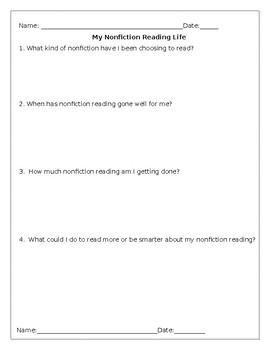 Nonfiction Reading Life Survey