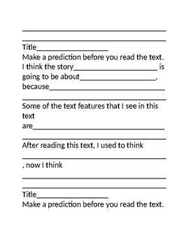 Nonfiction Reading Log