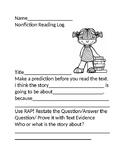 Nonfiction Reading Log Using RAP/PARCC Practice/Research Simulation