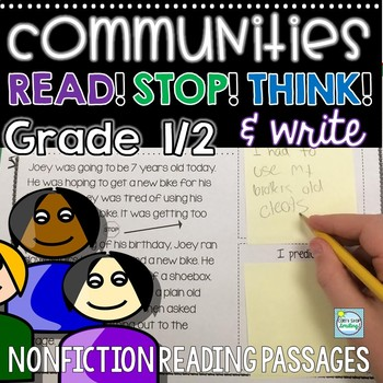 Nonfiction Reading Passages 1st grade ~  Communities Reading Passages Questions