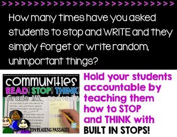 Nonfiction Reading Passages 1st grade ~  Communities Reading Passages Questions