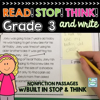 Nonfiction Reading Passages 3rd Grade ~ Stop and Jot ~ 3rd Grade Passages