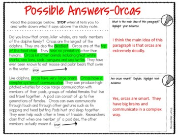 Reading Passages 3rd Grade ~ Stop and Think ~ 3rd Grade Passages