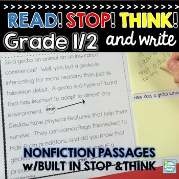 Nonfiction Reading Passages ~ Built in Stop and Jot ~ Nonf