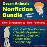 Nonfiction Reading Passages - Text Structure & Text Features - Distance Learning