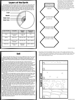 Earth Science Reading Passages and Foldables - Earth Science