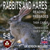 Nonfiction Reading Passages and Task Cards: Rabbits and Hares