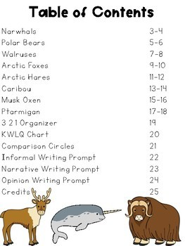 Nonfiction Reading Passages with Glossaries - Arctic Animals
