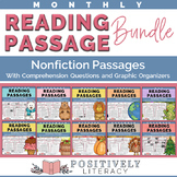Nonfiction Reading Passages with Monthly Topics Bundle