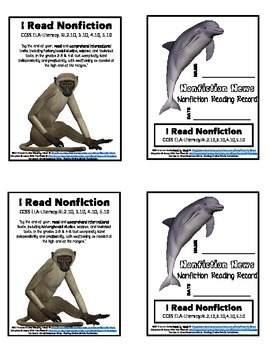 Nonfiction Reading Record Logbooks Setting & Monitoring Informational Text Goals