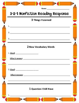 Nonfiction Reading Response