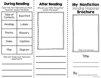 Nonfiction Reading Response Activities Graphic Organizers