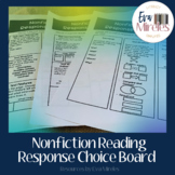 Nonfiction Reading Response Choice Board