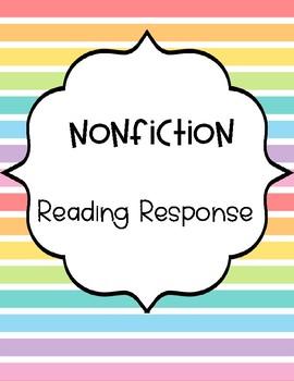 Nonfiction Reading Response Graphic Organizers