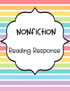 Nonfiction Reading Response Graphic Organizers