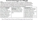 Nonfiction Reading Response Logs-Choice Box Questions