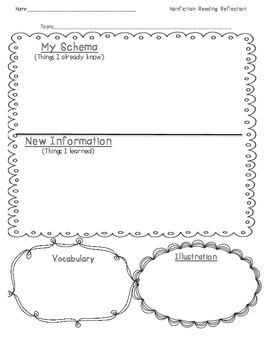 Nonfiction Reading Response Packet