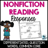 Nonfiction Reading Responses {Differentiated}