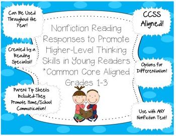 Nonfiction Reading Responses for Grades 1-3 Common Core Aligned