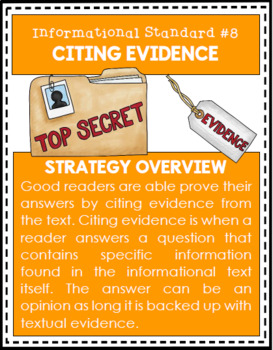 Nonfiction Reading Strategy Cards (Informational Text)