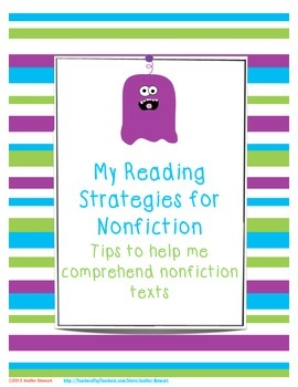 Nonfiction Reading Strategy Sheets for Guided and Independent Practice