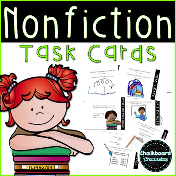 Nonfiction Reading [Task Cards] with Tabs