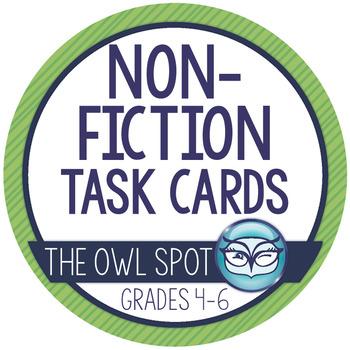 Nonfiction Reading Task Cards - Context Clues, Main Idea and Summarizing